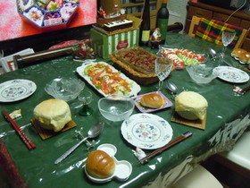 きのこのポットパイ包みのクリスマス
