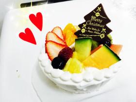 ★フルーツ シフォンケーキ★クリスマス★