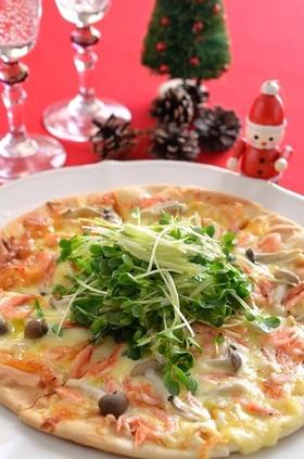 市販のピザで簡単ビストロ風!桜海老のピザ