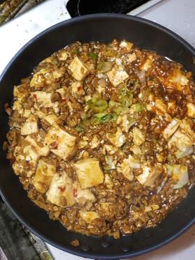 高野豆腐の粗挽き肉を使った四川風麻婆豆腐