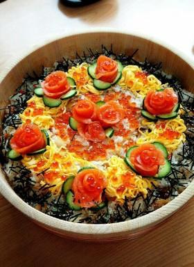 ひな祭りはちらし寿司で豪華に♡