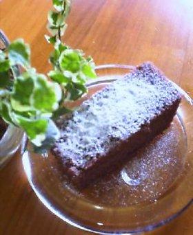 レンジで簡単全粒粉チョコケーキ