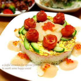 ひな祭りに♪ちらし寿司ケーキ