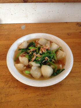 カブと桜海老の煮物