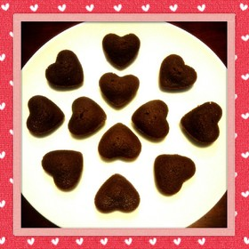 バレンタインに簡単チョコフィナンシェ