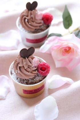 ふんわりカップケーキ☆バレンタインに