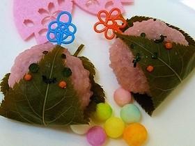 ひな祭りデコ桜餅♪