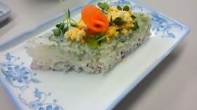 ひな祭り用ちらし寿司菱餅仕立て