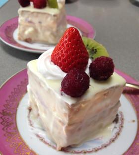 ホワイトデーにホワイトチョコのミニケーキ
