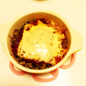 ポテトと挽肉のチーズ焼き(ミートソース)