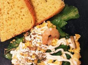 えびと春野菜の卵炒め