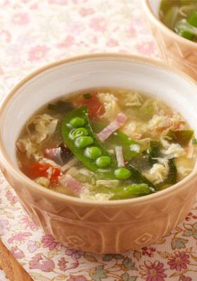春野菜たっぷりのたまごスープ