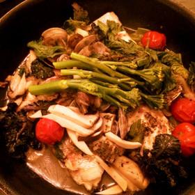 春野菜入り鯛のアクアパッツァ