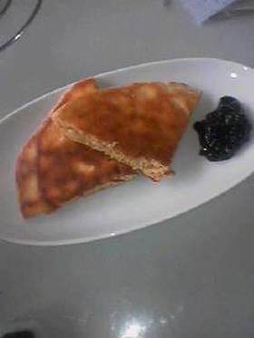 ミックス無しの全粒粉・豆乳ホットケーキ