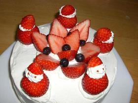 イチゴサンタのクリスマスケーキ