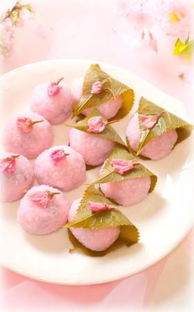 春爛漫♡おいしい桜餅(道明寺粉)