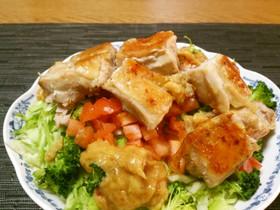 低カロ♡カリカリチキン西京味噌サラダ♡