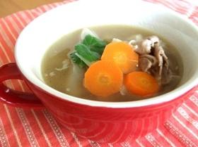豚ゴボウのあっさりスープ