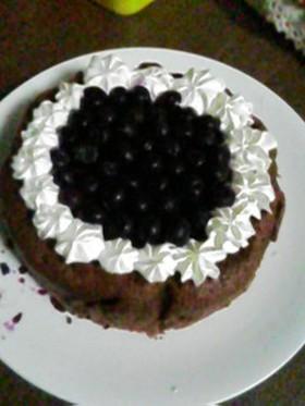 超簡単スポンジケーキで誕生日を♪