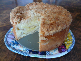 カシューナッツでクランブルアップルケーキ