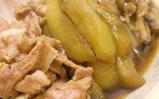 豚肉となすと舞茸の煮物