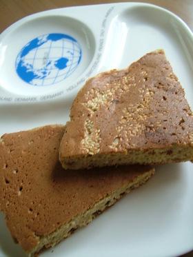 ごまバナナのライ麦ホットケーキ