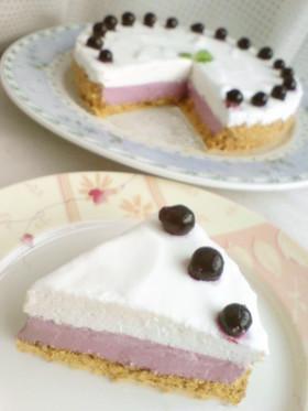 カシス☆ヨーグルトレアチーズケーキ