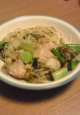 鶏肉と野菜たっぷり ぺペロン風