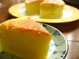ふんわり♪しゅわ~のスフレチーズケーキ