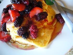 カナダ朝ご飯バターミルク全粒粉パンケーキ