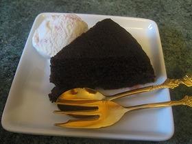 ❤電子レンジでチョコレートケーキ