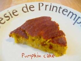 ノンオイル&シュガーの濃厚かぼちゃケーキ