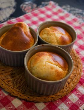 ホットケーキミックス☆簡単チーズ・スフレ