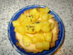 さつま芋とオレンジのつやつやタルト