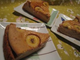 チョコっとバナナのチーズケーキ