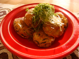 ひじきとれんこんの健康*鶏ハンバーグ