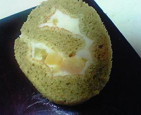 簡単★抹茶と栗のロールケーキ