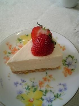 混ぜるだけ♡簡単♥レアチーズケーキ♡