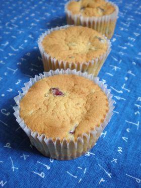 クランベリーのカップケーキ