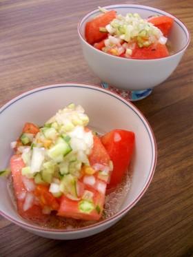 我が家の定番②美味しすぎるトマトサラダ☆
