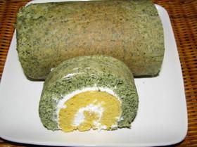 見た目も春らしい『二色ロールケーキ』