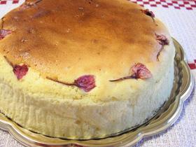 ノンオイルふわふわ♪桜スフレチーズケーキ