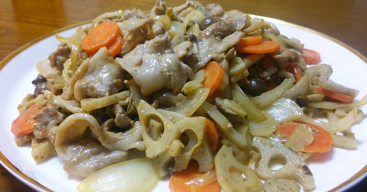 レンコン 豚肉 レシピ つくれぽ