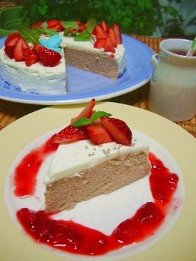 苺とヨーグルトのスフレケーキ