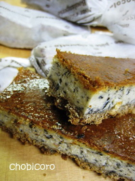ごま×ごまベイクドチーズケーキ