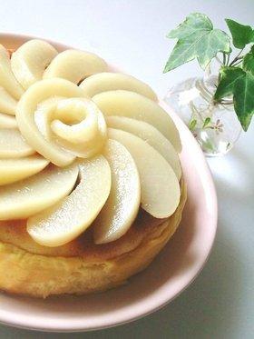 ふわしゅわ○桃とヨーグルトのスフレケーキ