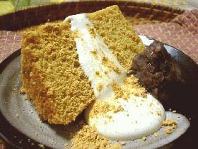 *きなこ*全粒粉*豆乳*のシフォンケーキ