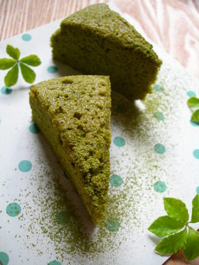 ◆ 緑茶・も入った・・抹茶スフレ ◆