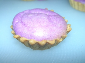 秋の紫芋クリーム・スフレ・タルト