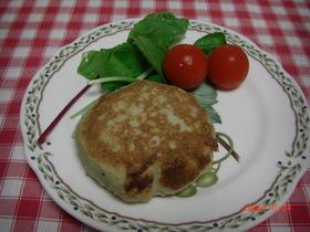 ヘルシー・レンコンと豆腐の鶏肉ハンバーグ